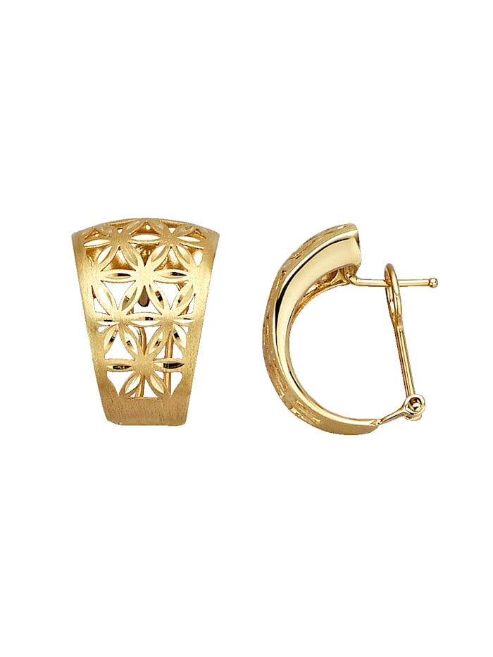 Diemer Gold Clip-Stecker in Gelbgold, Gelbgoldfarben