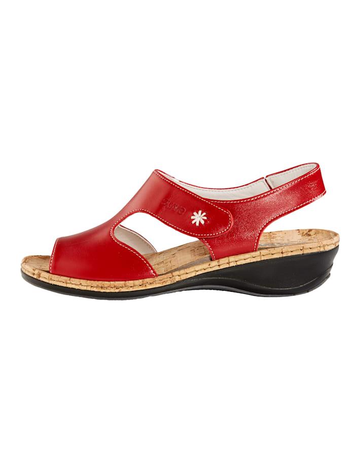 Sandaler med bekväm korkfotbädd
