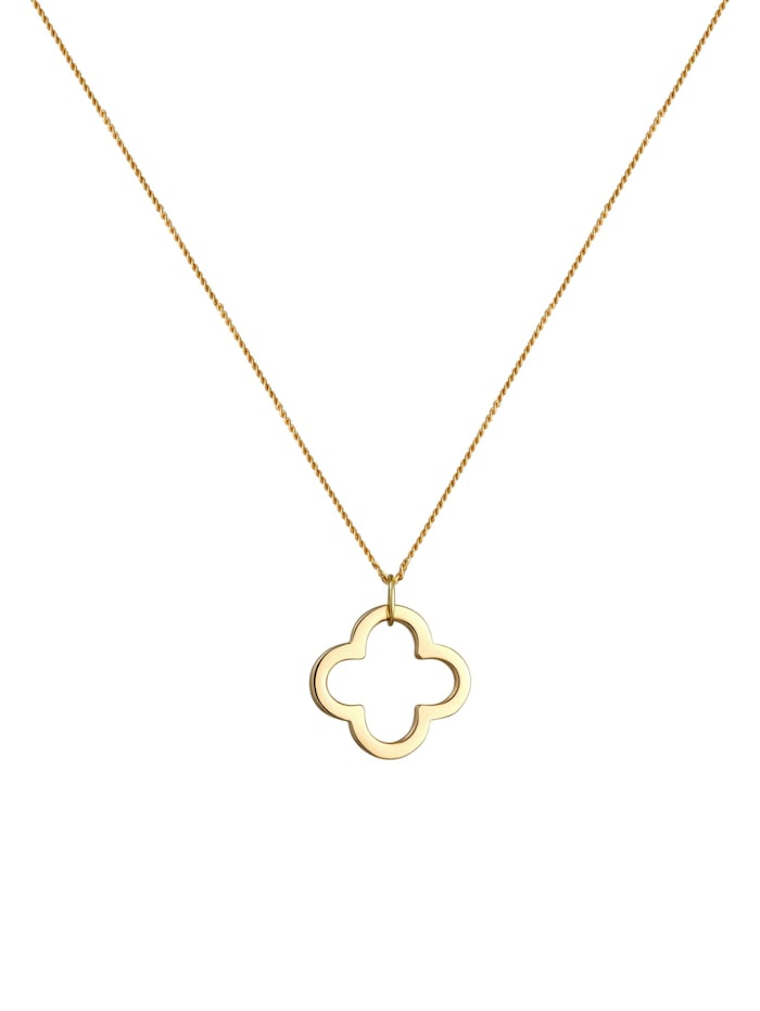 Halskette Kleeblatt Glücksbringer 585 Gelbgold Grigri