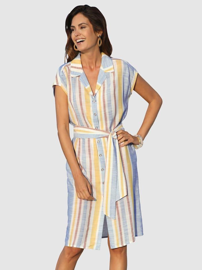 Laura Kent Skjortklänning med knytskärp, Ljusblå