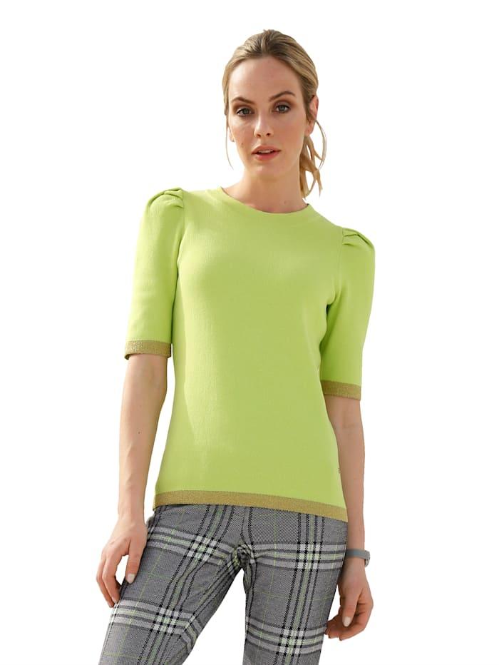 AMY VERMONT Pullover mit metallisiertem Garn, Neongrün