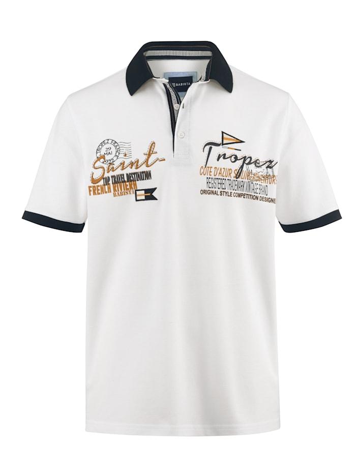 BABISTA Poloshirt met hoogwaardige contrasterende details, Wit