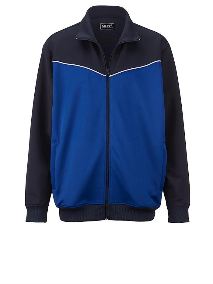 Men Plus Trainingsjacke, Marineblau/Royalblau/Weiß