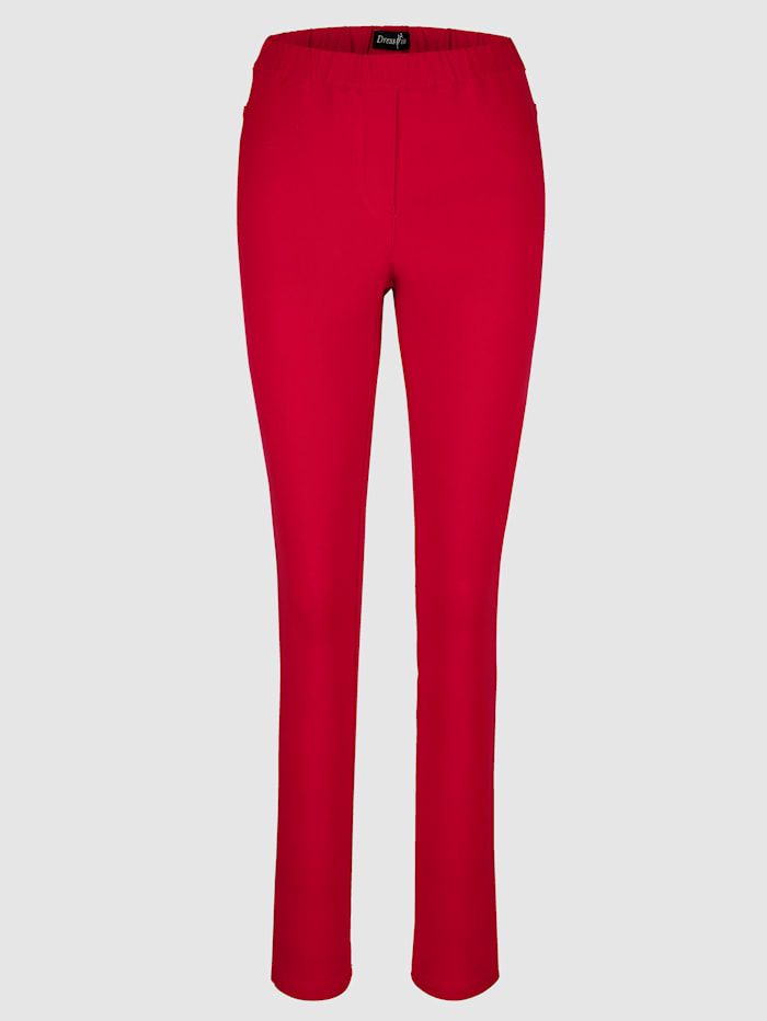 Pull-on trousers in a slim cut