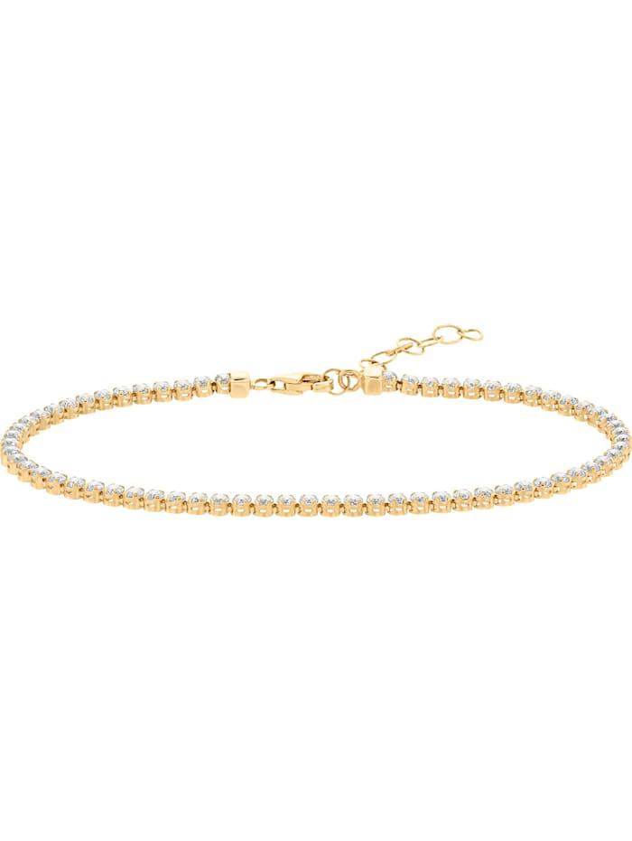 FAVS Damen-Armband 375er Gelbgold Zirkonia