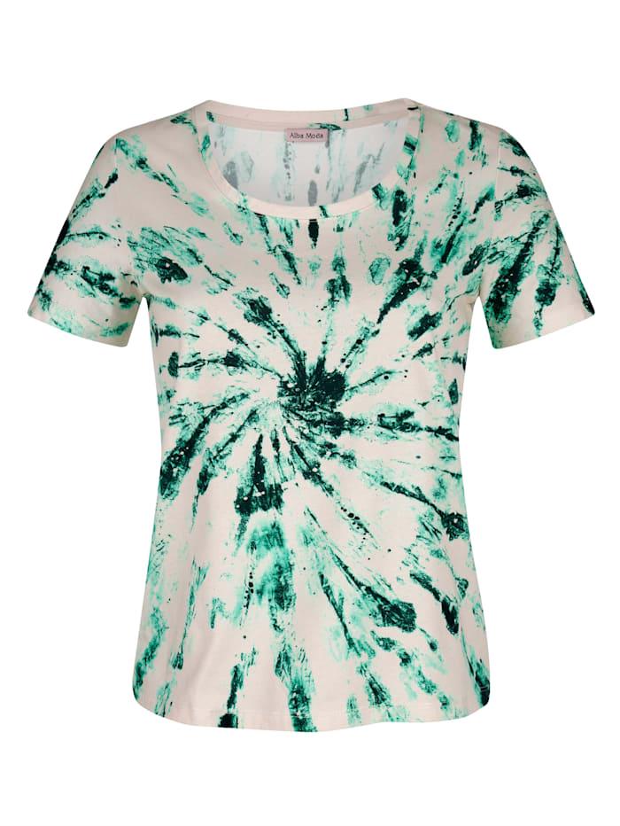 Alba Moda Strandshirt mit Batikdessin, Beige