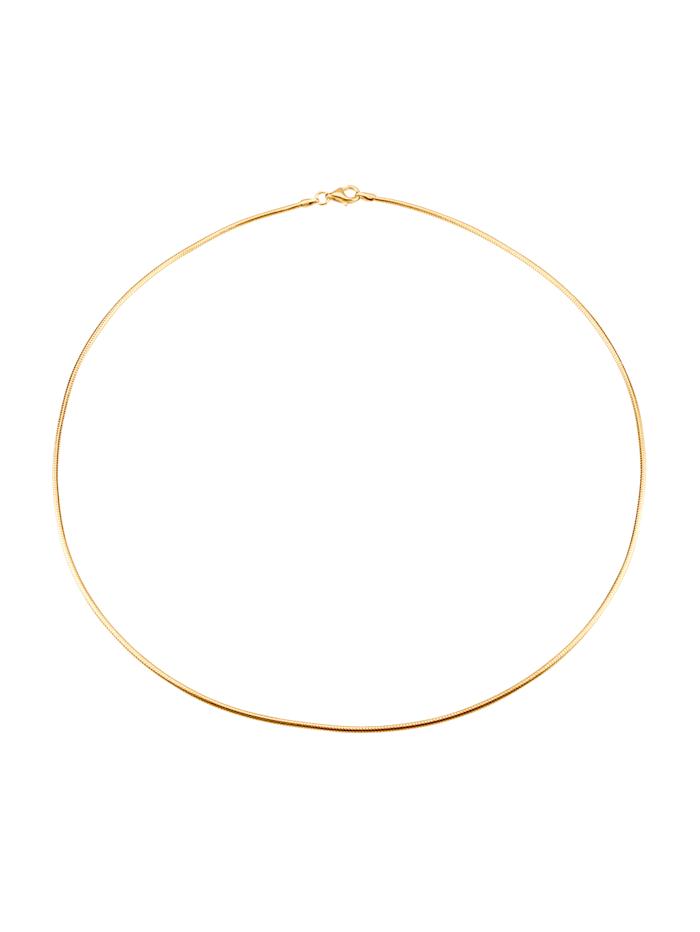 KLiNGEL Schlangenkette in Silber 925 vergoldet, Gelbgoldfarben