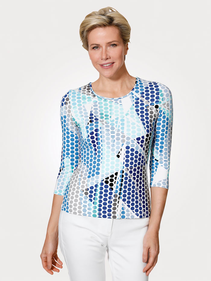 Barbara Lebek Shirt, Marineblau/Blau/Weiß