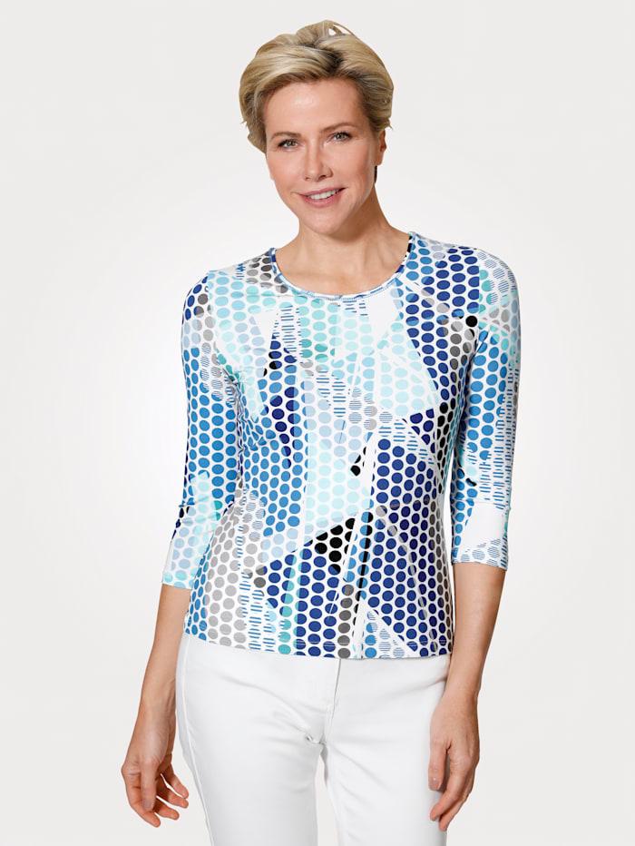 Barbara Lebek Top, Navy/Blue/White