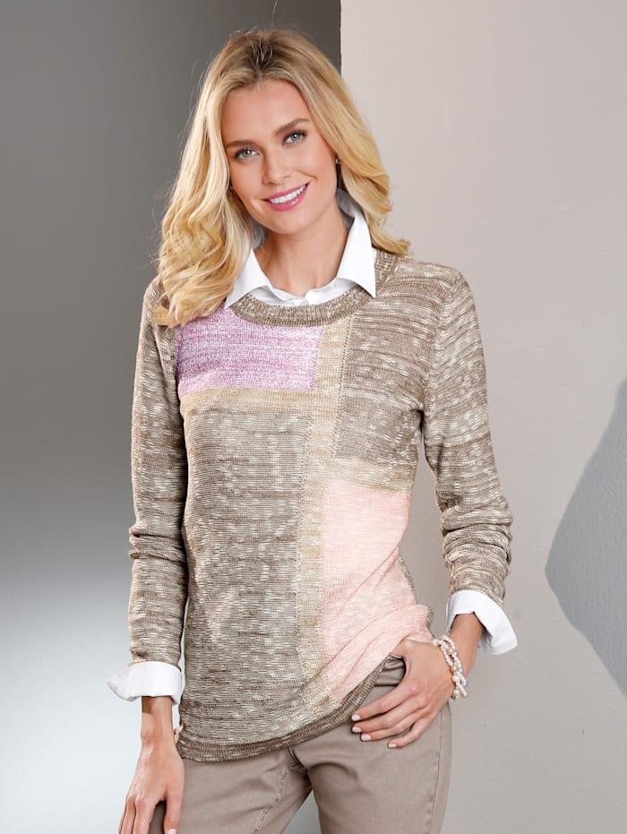 Intarsiastickad tröja med paljetter
