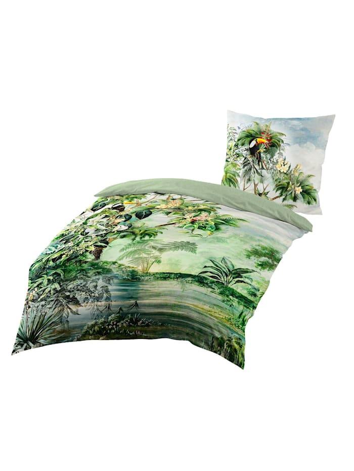 Traumschlaf Mako-Satin Wildflowers lind, lind
