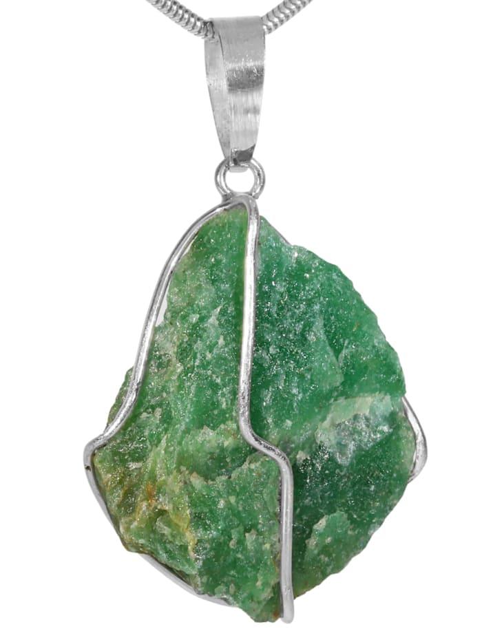 1001 Diamonds Aventurin Anhänger 925 Silber, grün