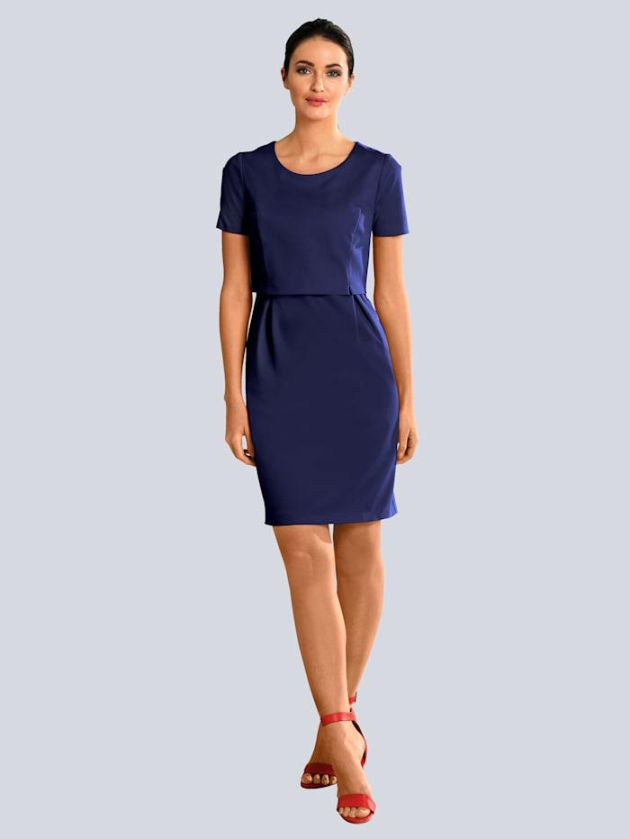Alba Moda Kleid im modischen Layer-Look, Marineblau