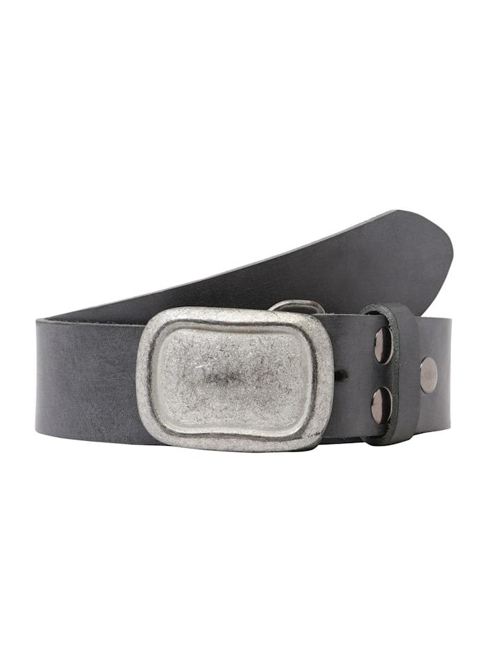 RETTUNGSRING by Showroom 019° Echtledergürtel mit austauschbarer Rechteck-Schließe, grey