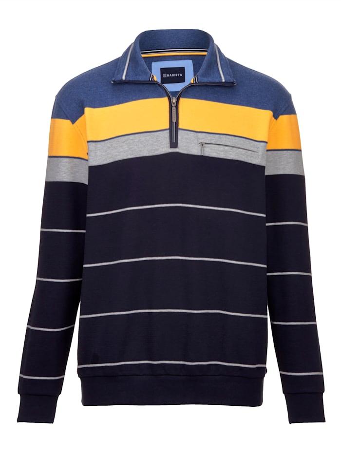 BABISTA Sweatshirt in feiner Struktur, Marineblau/Blau