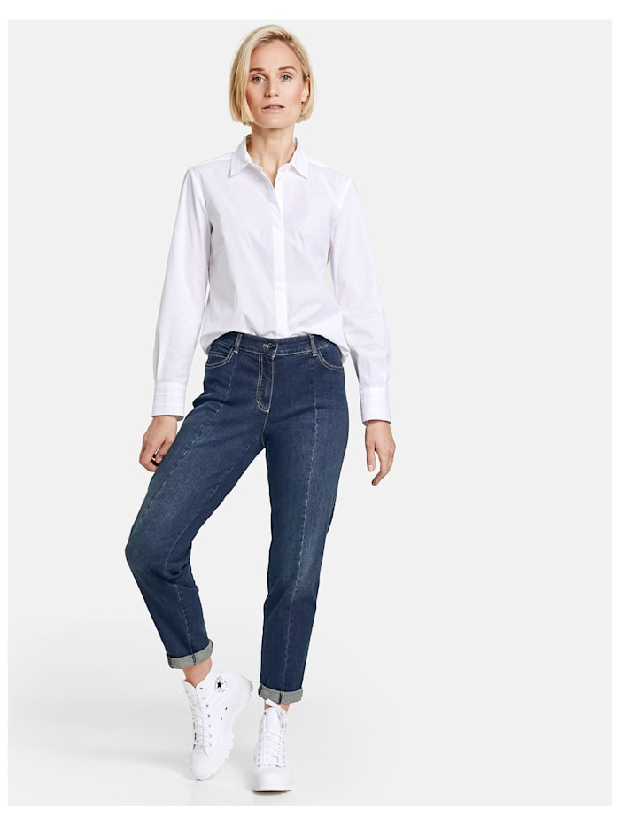 Jeanshose mit Teilungsnaht