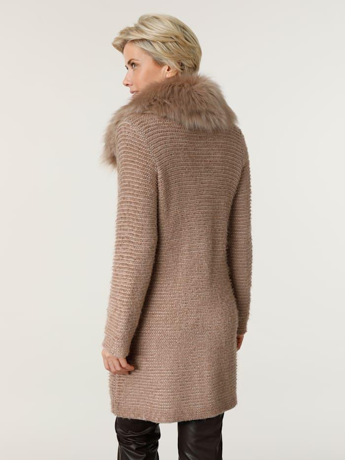 Manteau en maille à dos plus long tendance