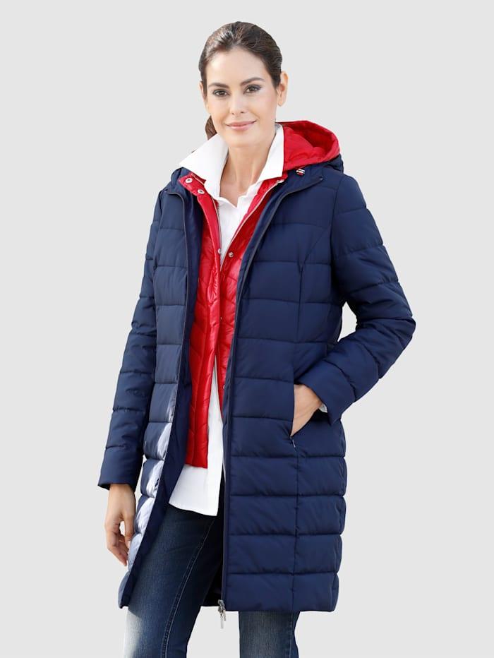 Laura Kent Prošívaný kabát s lehkým vatováním, Námořnická