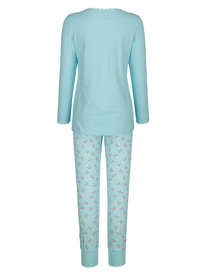 Pyjama avec détails romantiques en dentelle