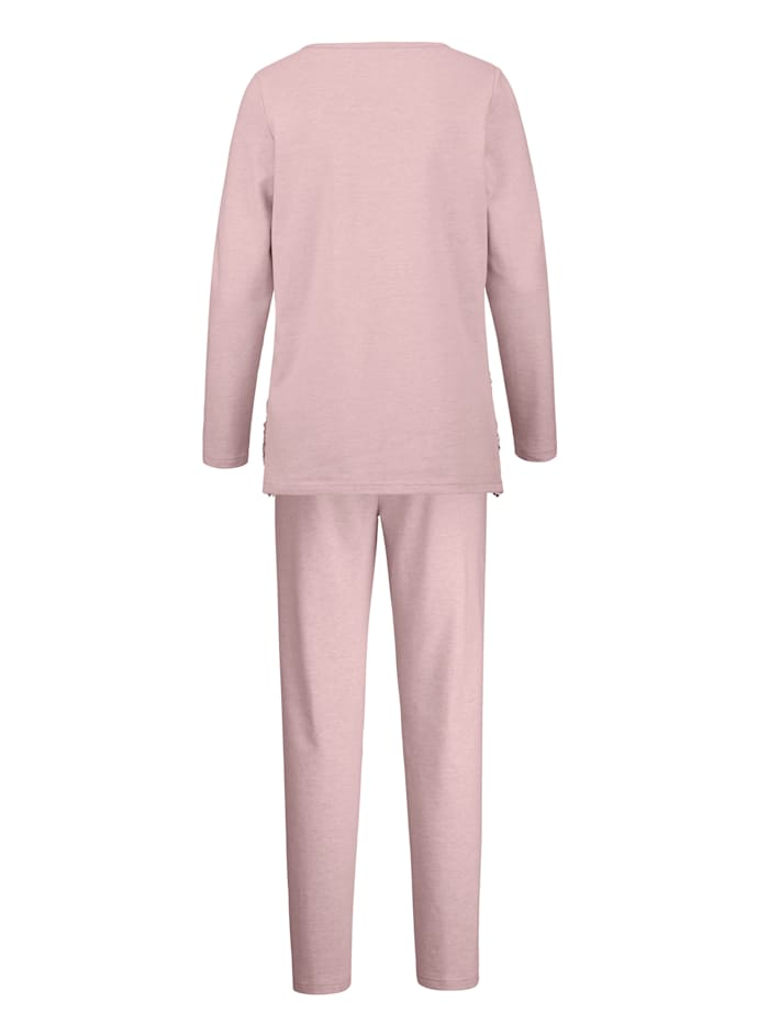 Loungewear Set with elegant lace detailing over the cups