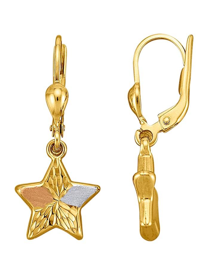 Boucles d'oreilles Étoiles en or jaune 375, Coloris or jaune