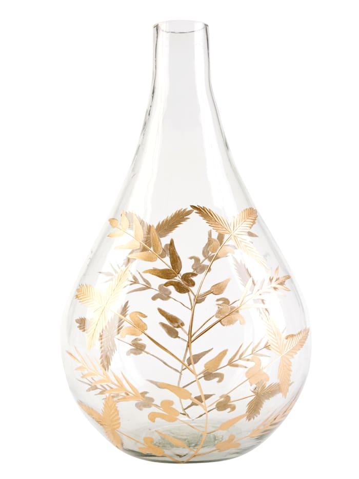 IMPRESSIONEN living Vase, klar/goldfarben