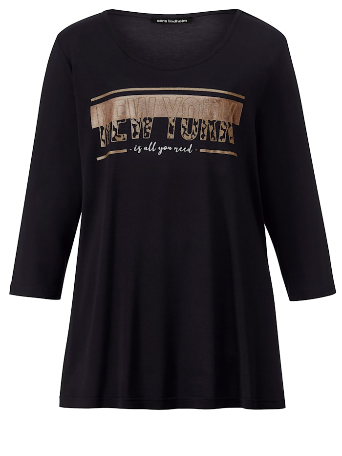 Shirt met glansprint