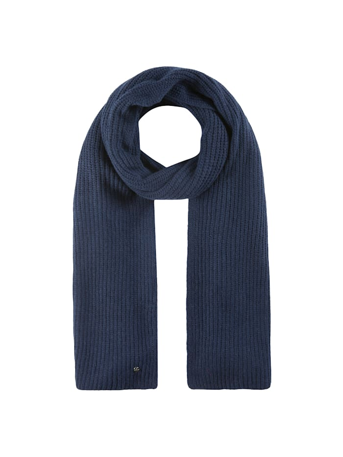 Codello Warmer Rippstrickschal mit Wolle, navy blue