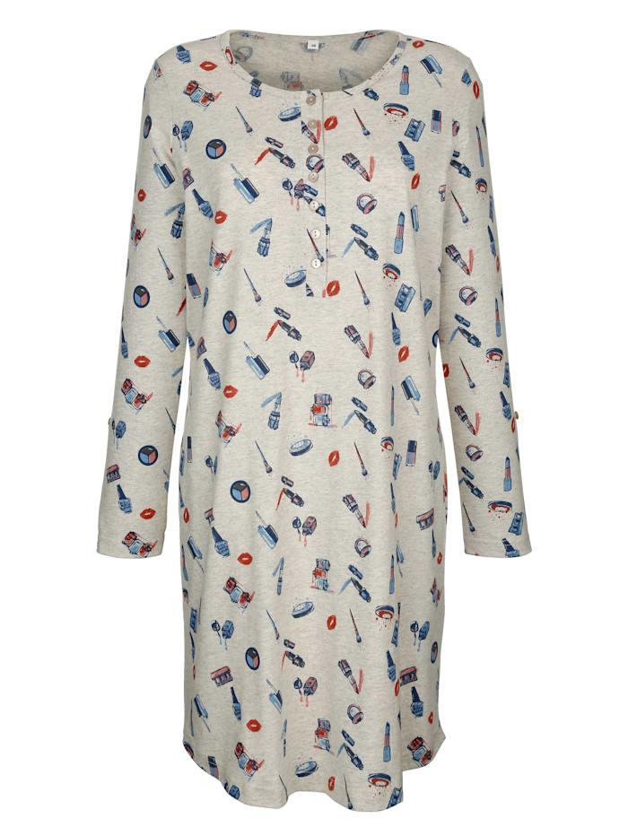 Nachthemd met pat en knoop aan de mouwen