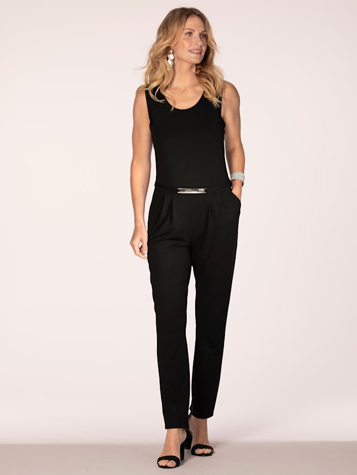 Jumpsuit with belt detail