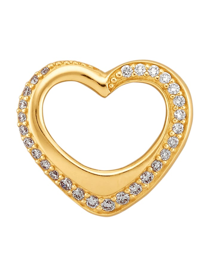 Amara Diamants Pendentif en forme de cœur, Blanc