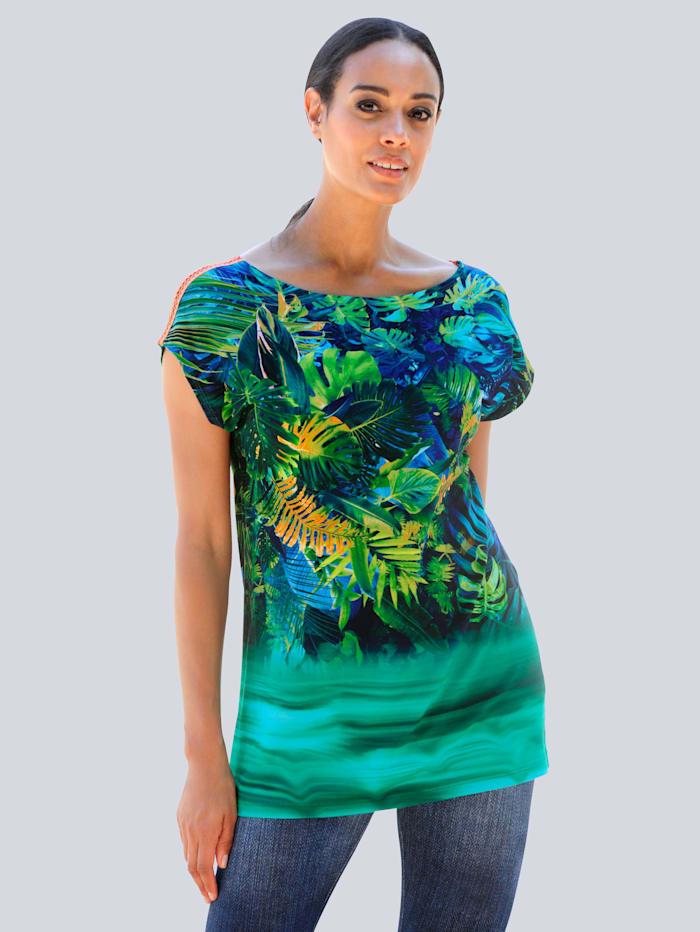 Alba Moda Strandshirt mit Farbverlauf, Grün