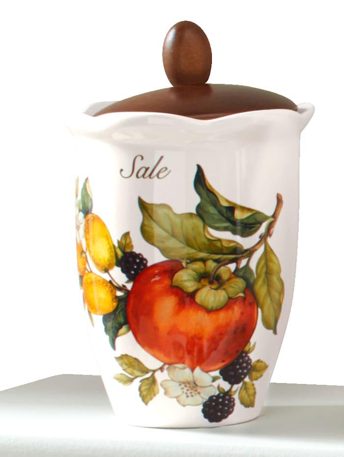 Nuova Ceramica Artisan Dóza na soľ 'Pomi D'Oriente', Multicolor