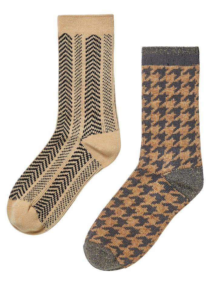 Unmade Copenhagen Socken-Set, 2-tlg., Gelb