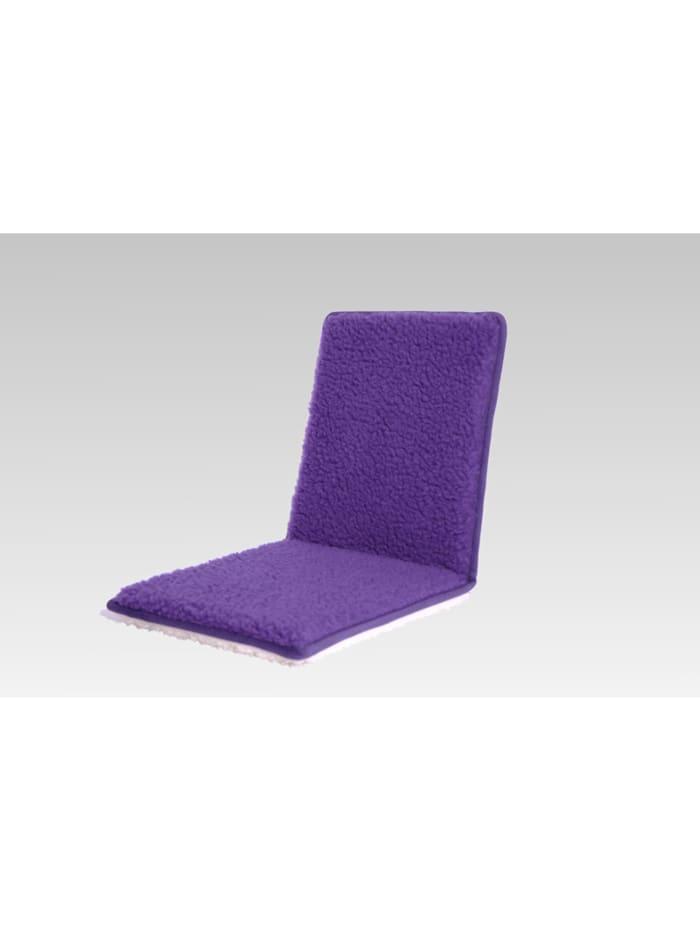 Linke Licardo Stuhlkissen Sitzauflage Sitzflächenschoner Wolle uni 80 x 37 cm, lila