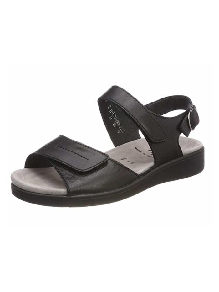 Semler Damen Sandale in schwarz, schwarz
