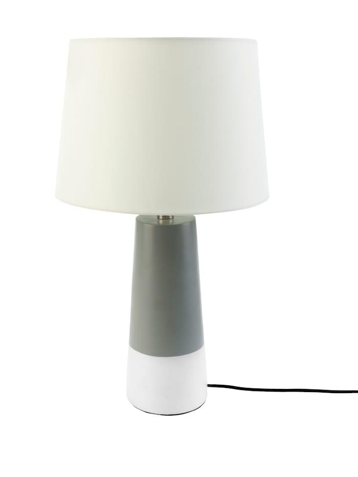 IMPRESSIONEN living Lampe de table, Blanc/gris
