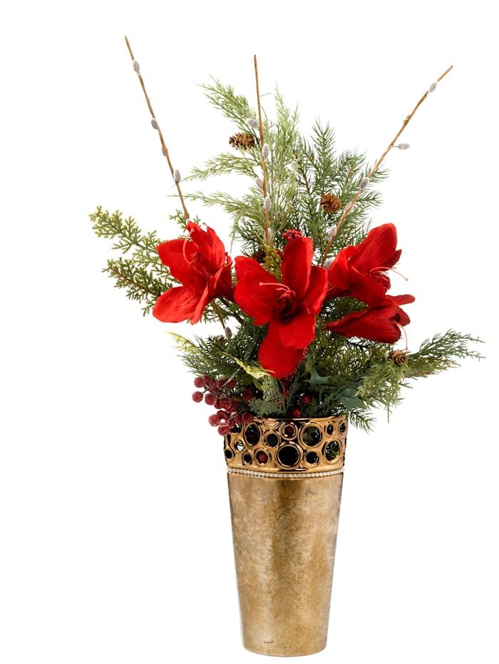 Blomsteroppsats -Amaryllis-, rød