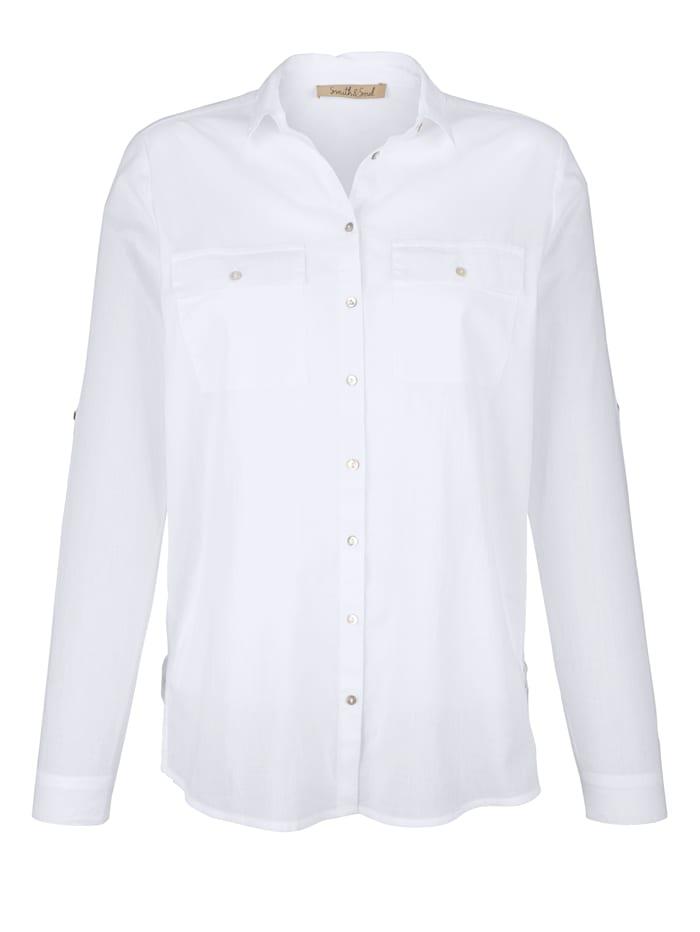 Vit bomullsskjorta