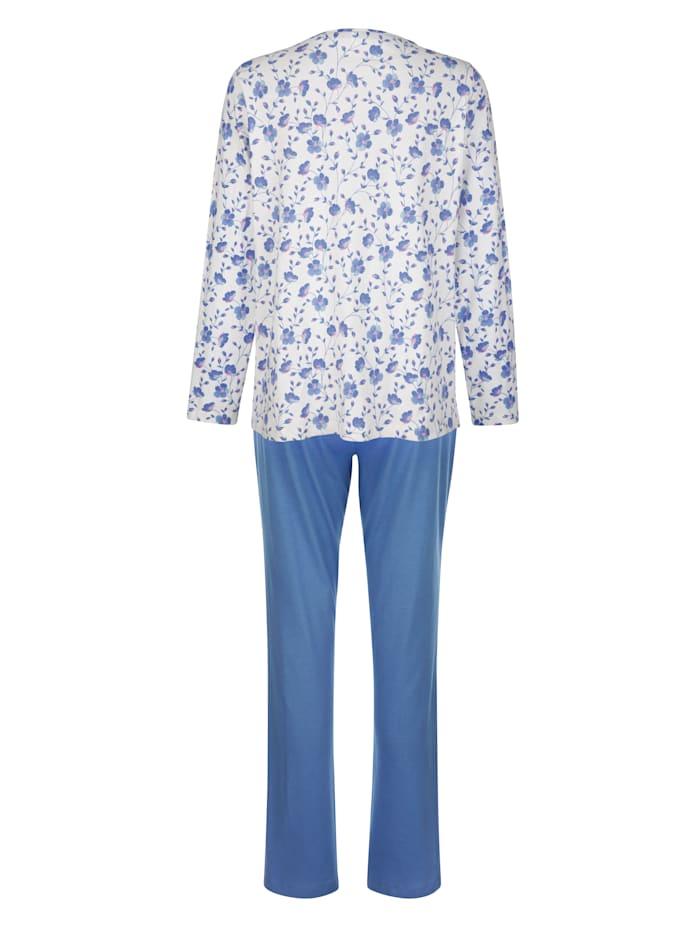 Schlafanzug mit hübschem Blumendruck