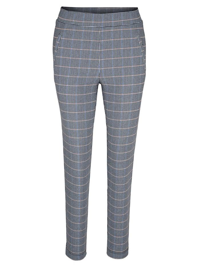 Pantalon 7/8 à motif Prince de Galles en coloris harmonieux