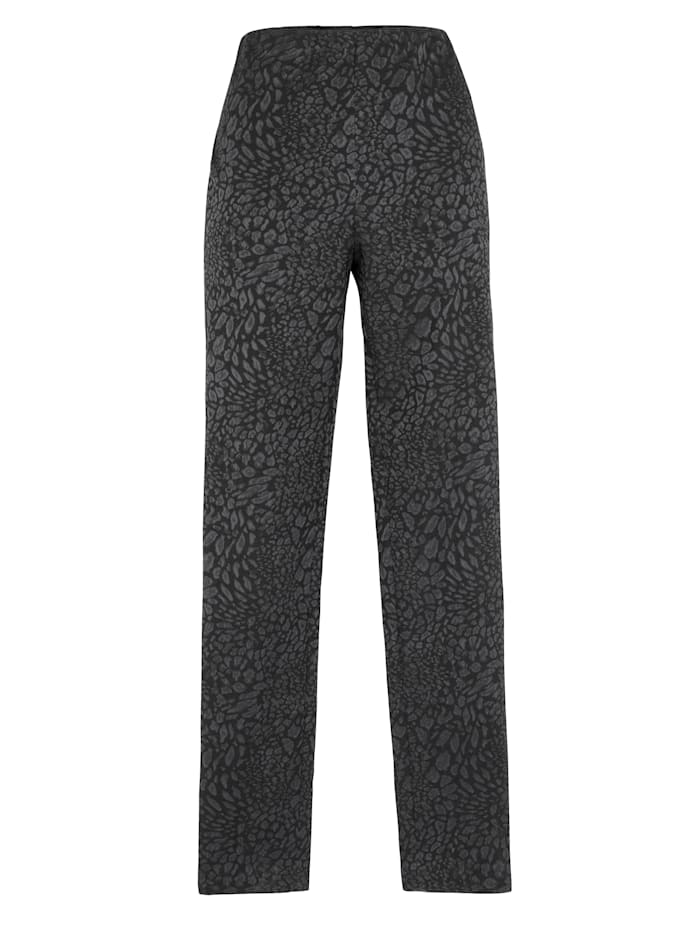 Trousers in a leopard jacquard
