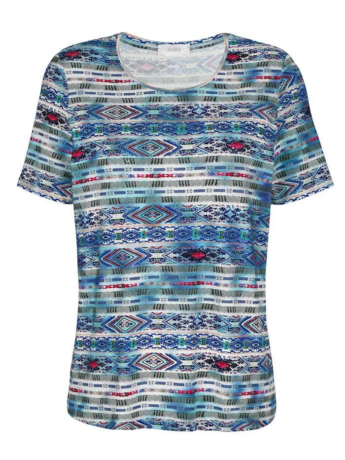 T-shirt à imprimé ethnique