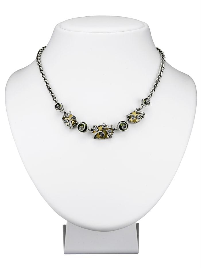 Konplott Collier mit Swarovski Kristallen 5450543335025, Grau