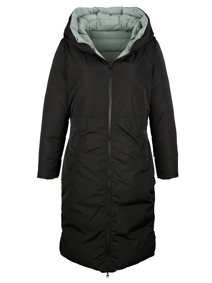 Manteau matelassé à fonction réversible, se porte des deux côtés