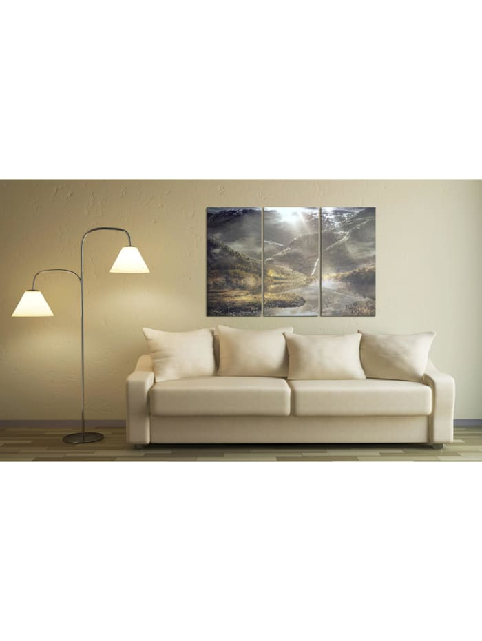 Wandbild The land of mists - triptych