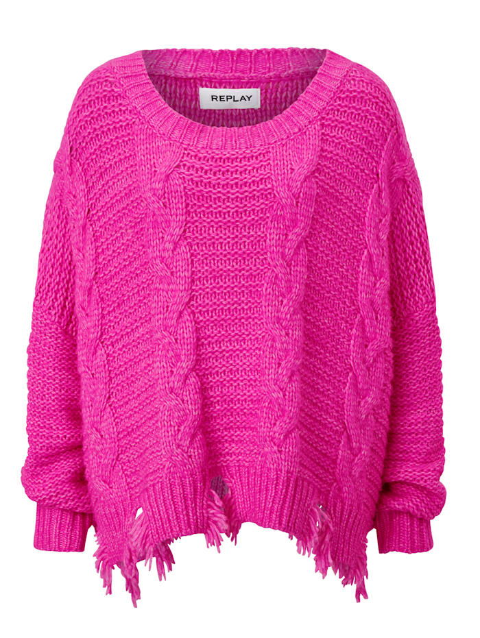 REPLAY Pullover, Pink