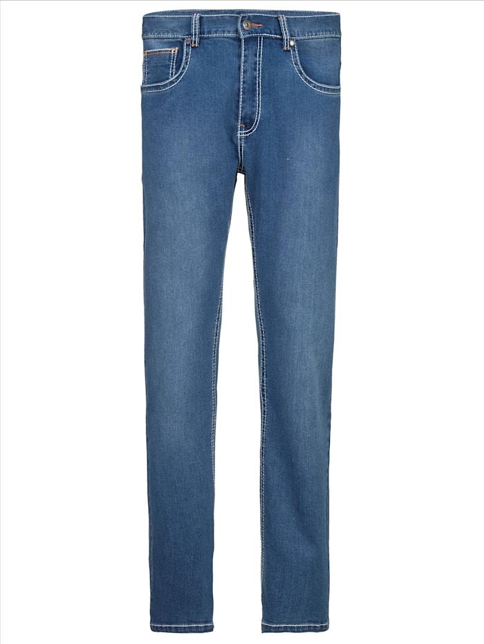BABISTA Jeans met modieuze contrastnaden, Blauw