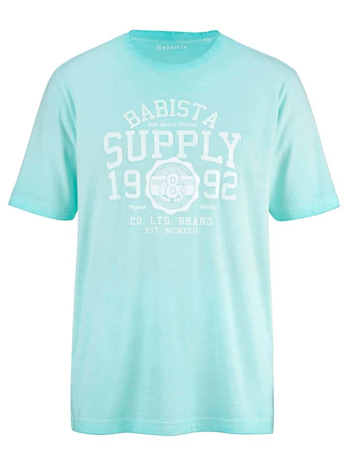 BABISTA T-Shirt in modischem Used-Look, Türkis