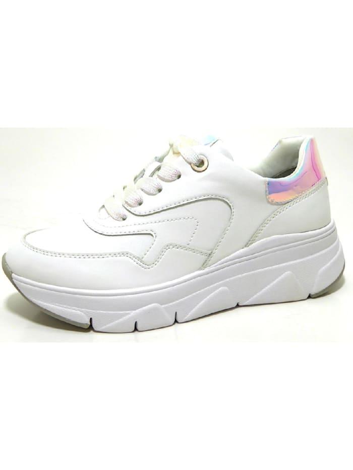 Tamaris Damen Schnürschuh in weiß, weiß